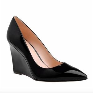 Nine West Theao Point Toe Patent Leather Wedge 5.5
